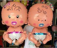 balloon arrangements - New Arrive Boys Girls Cartoon Inflatable Helium Foil Balloon Baby Birthday Paty Christmas Event Day Arrangement Decoration