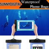 Cheap 2015 New Waterproof Bags Super Seal Touch Pouch Case 10M Underwater PVC Flexible Bag for iphone 6 Plus 5.5 inch Universal Cell Phone