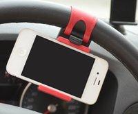 Wholesale Universal Car Steering Wheel Mount Holder Rubber Band Phone Socket Holder Car Bracket