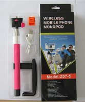 Wholesale wireless mobile phone Monopod selfie stick Photograph Bluetooth Shutter Camera Remote Control for iPhone above IOS4 Samsung Android3