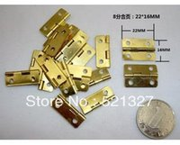 Wholesale Hinge box accessories small metal hinge division and square wooden box on page MM
