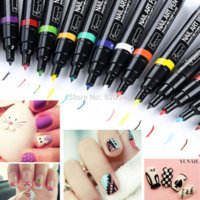 nail art pen - Nails Tools Nail Polish Nail Art Pen Painting Design Tool Drawing for UV Gel Polish colors
