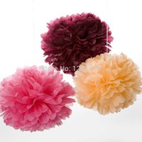 blue tissue paper - 24 colors DIY party tissue paper pompoms quot cm Decorative paper flowers wedding decoration