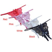 best transparencies - 151202 Best seller sexy panties Open fork Transparency tanga bowknot Featured Strappy Underpants Knickers Underwear Lingerie clothes tt