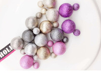 ball earrings titanium - Nice Double Balls Earings Hot Sales Fashion Jewelry Pearl Stud Earrings For Girls Pairs Candy Gifts For Women Party Factory