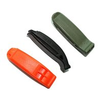 Wholesale 1 Pc Portable Outdoor Survival Rescue Emergency Plastic Whistle With Clip Brand New