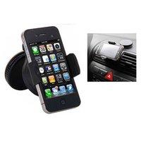 Escritorio universal Imán del montaje del coche para el iPhone 5S / 5C / 5 / Samsung S6 / S5 / S4 Cell Phone Holder para los coches Mobile Accesorios Negro