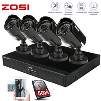 Wholesale ZOSI Surveilllan System CH Realtime H DVR x HD CMOS IR CUT Waterproof Outdoor Indoor Camera Security System GB HDD