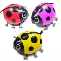 air modeling - cm Wedding Party Inflatable Air Balloons Cartoon Toy Cute Ladybird Modeling Foil Cartoon Balloon Birthday Decoration
