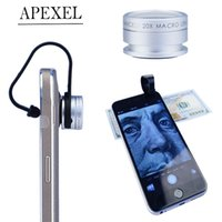 Cheap Apexel Universal Macro Photography Lenses 20X Super Macro Lens for iPhone Mobile Phone Camera Lens for Samsung N4 lens APL-20XM
