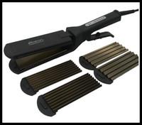 Precio de Salones para alisar el cabello-2015HOT 5 dientes 7 dientes Titanium Hair Crimper Straightening corrugado hierro Salón Profesional y Belleza Belleza del Hogar