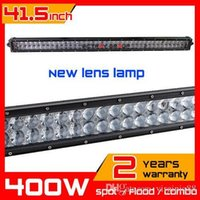 Wholesale 41 inch w New Lens LED Light Bar Truck Tractor ATV X4 Offroad Light Bar LED Worklights Fog External Light seckill w w