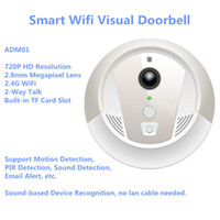 Wholesale Smart Wifi Visual Doorbell with P2P P camera Day and Night vision m IR support Motion Sound detection alam Email Alert GB TF card