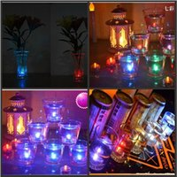 bar vase - New Arrival Waterproof LED Submersible Candles Tealight Lamp Fish Tank Vase Decor Lighting For Wedding Birthday Party Bar Decoration