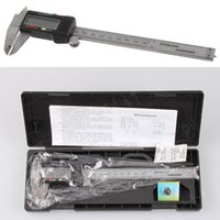 Wholesale 150MM Electric quot Stainless Steel Digital Vernier Dial Caliper Gauge Micrometer with retail box