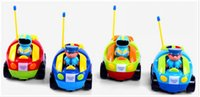 auto electric radio - Cartoon RC Wireless Race Car Radio Remote Control Music Flashing Headlights Toy Children Auto Vehicle Toys Gift