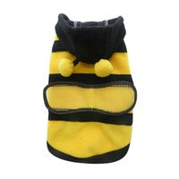 Wholesale Dog Cat Pet Supplies CuteBumble Bee Dress Up Costume Apparel Coat Clothes ES88