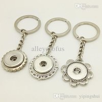 Wholesale NF015 OEM ODM newest snap button Keychain Keyring fit mm mm snap