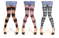 Wholesale 2014 New Bestselling Women s snowflake pants Christmas Snow Leggings Lady Autumn Winter free shippig