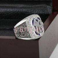 -Replica Venta al por mayor 2009 Nueva York el anillo de campeonato World Series Tamaño 11 El mejor regalo del ventilador Hombres 18K plateado joyería