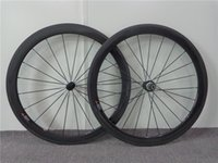 Wholesale 38 mm Depth mm or mm Wide Clincher Carbon Road Wheels Carbon Clincher Wheelset with Powerway R13 Lightweight Hub Shimano Speed