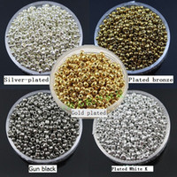 seed bead - mm glass beads Plated Metal Round seed beads diy jewelry about