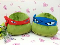 Wholesale EMS Free Kids Toys Plush Sea Turtle Stuffed Toys Animals Teenage Mutant Ninja Turtles Gifts for Children Turtle Cute Pillows Style