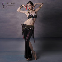 Cheap 2015 Professional Tribal Belly Dance Costume Set 3PCS Plus Size Performing Tribe Clothing
