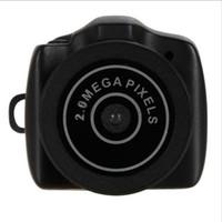 Wholesale New P AVI CMOS Y2000 Mega Pixe Smallest Portable Mini HD Digital DV Webcam Video Camera Camcorder JPG Photo