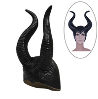 Wholesale trendy Genuine latex maleficent horns adult women halloween party costume jolie cosplay headpiece hat
