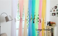 curtain voile - organza voile sheer curtains for living room home wedding decoration curtain fabrics drapes cheap tulle curtains