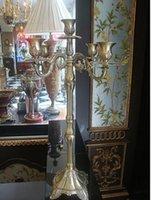 antique bronze candelabra - European light antique bronze candelabra festival decoration candlesticks home decoration candle holders ZT044