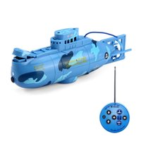 electric cable - Create Toys Mhz CH Mini RC Submarine Remote Control Toy With USB Cable Blue Yellow