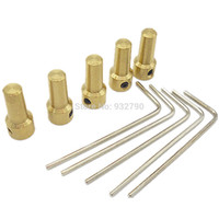 air drill motors - 5pc mm Brass Mini Electric Motor Shaft Clamp Drill Chuck Clamp Connection Shaft Coupling Motor Connector For mm mm Drill order lt no