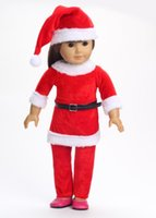 Wholesale Popular quot American Girl Doll Clothes Christmas Clothes Pants With Christmas Hat