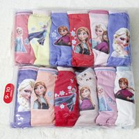 Wholesale frozen girls Cartoon cotton Underwear brief panties packs Children kids boys girls with sizes baby clothes christmas gift hot sale