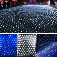 led christmas net lights - 2M x M leds LED Net Light Fairy Lights Christmas Xmas Party Wedding EU Plug SV008166