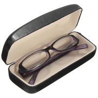 clam - Top grade PU Leather Black Clam Shell Hard Case For Eyeglass Sunglasses Reading Glasses x6x3 cm order lt no track