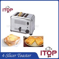 baking furnace - Fast Delivery Stainless Steel Bread Toaster Silver Bread Machine Household Commercial Toast Furnace Tasty Breakfast Baking Pastry Tools