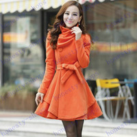 Wholesale Fashion Hot Brand New Autumn and Winter Korean cultivate one s morality overcoat Fashion Women wool woolen cloth coat