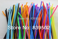stick clean - 200PCS Multicolor Mixed Plush Iron Wire Flexible Flocking Craft Sticks Pipe Cleaner Creativity Developing Kids DIY Toys