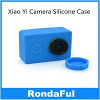 Wholesale 2pcs Xiaoyi sport camera soft protective cover waterproof Lens Cap Xiaomi yi action camera silicone case Camera Accessories