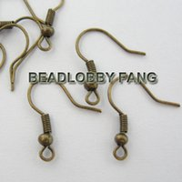 Wholesale Wholeslae Fashion Bronze Earwires Earring Findings Fish Hooks x16mm Fit Jewelry Earring DIY