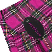mini plaid skirt - Avidlove Brand Women Fashion Sexy Lady Schoolgirl Cosplay Sleepwear Plaid Night Super Mini Pleated Skirt