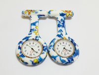 Wholesale New Prints Colorful Pocket Nurse Watch Silicone Band FOB Watches patterns Mixed Shipping cheaporder