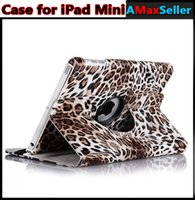 Cheap For iPad Mini1 Mini 2 Retina 360 Degree Rotating Leopard Print PU Leather Flip Case Smart Sleep Wake Up Wallet Cases Stand Cover Cheap Price