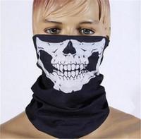 Wholesale 1000pcs FASHION hot SALE Skull Multi Function Bandana Ski Sport Motorcycle Biker Biker scarf Face Masks cycling mask D530