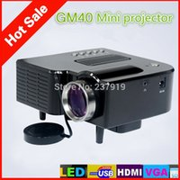 Wholesale Maike CS1936 Mini GM40 HD projector LED projectors interface AV VGA SD USB HDMI last UPdater projector In stock Colors