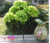 silk flower heads - Silk Hydrangea Bunch56cm inches Home Decoration Artificial Flowers Simulation Hydrangea Bush Six Fllower Heads