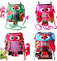 Wholesale ZJ national wind owl purse cartoon Cross Body Messenger Bags ethnic small cloth bag cm